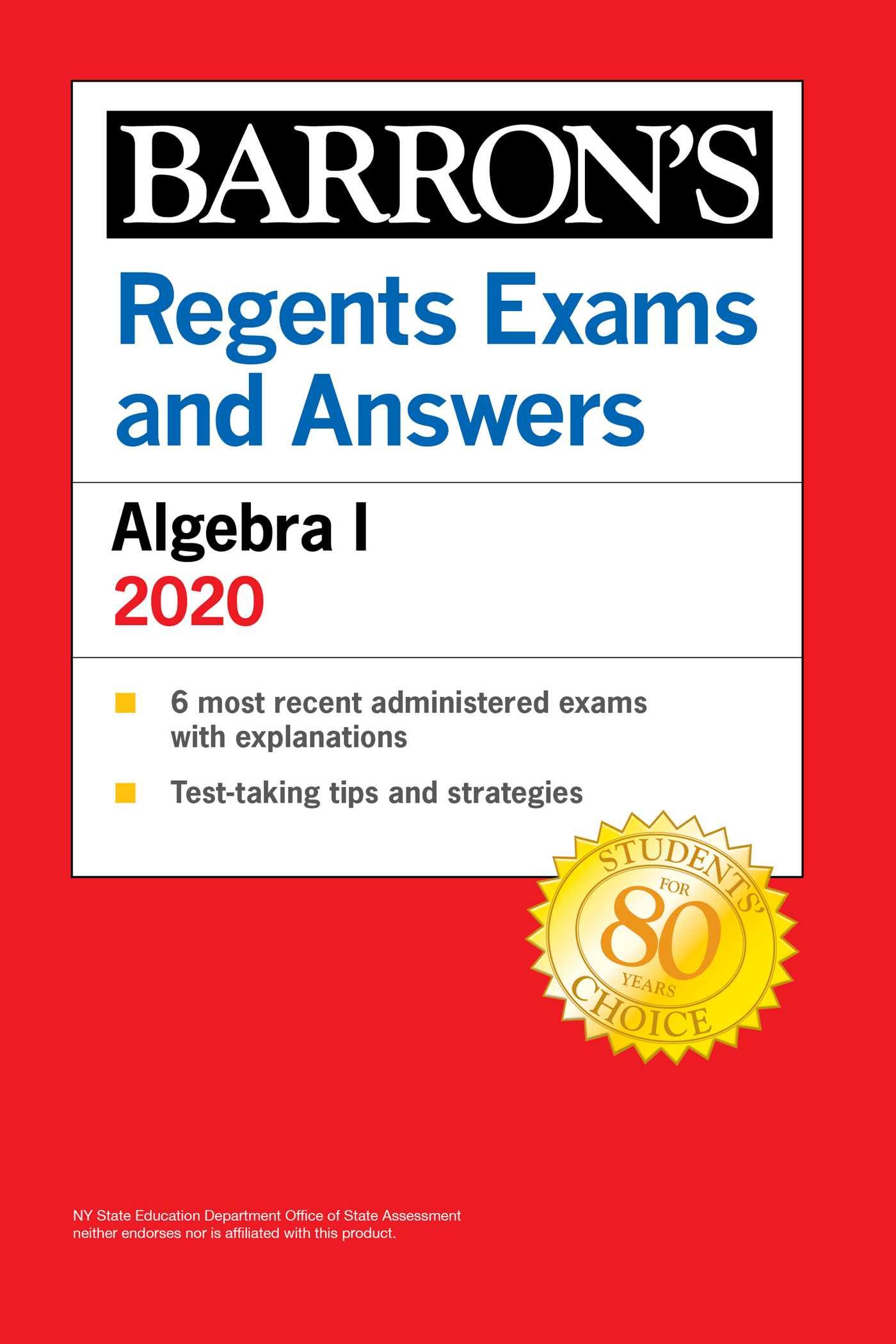 [PDF] [EPUB] Regents Exams and Answers: Algebra I 2020 Download by Gary M. Rubinstein