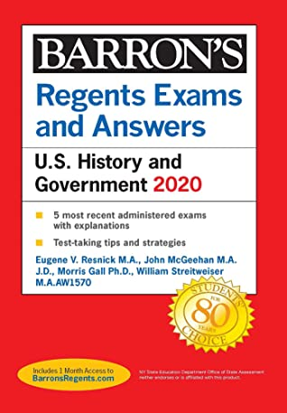 [PDF] [EPUB] Regents Exams and Answers: U.S. History and Government 2020 Download by Eugene V. Resnick